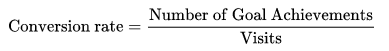 สูตรสมการในการคำนวณ Conversion Rate