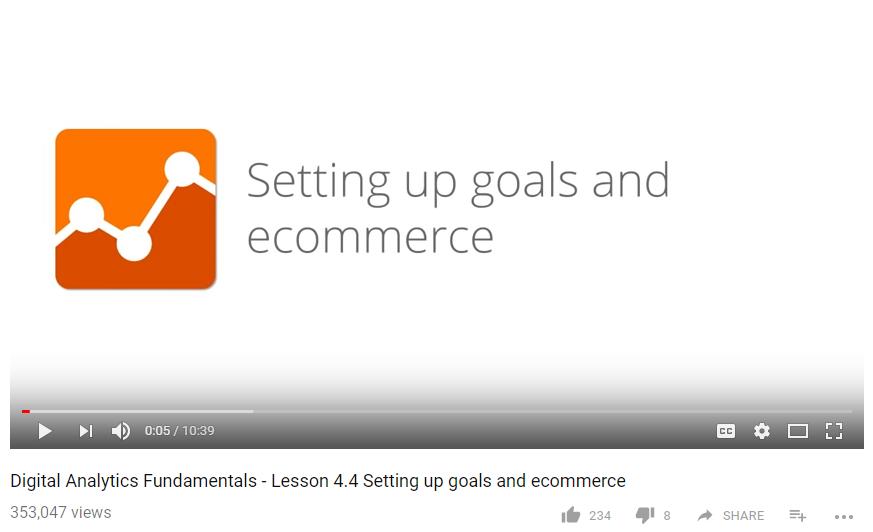 คลิกที่นี่เพื่อดูวีดีโอสอนการตั้งค่า Goals ใน Google Analytics