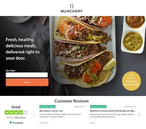 ตัวอย่างหน้า Landing Page จาก Instapage.com