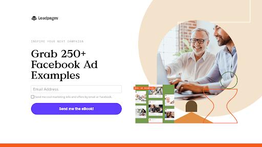 ตัวอย่างหน้า Landing Page ของ Leadpages