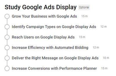 Google Display Ads Certification Outlines