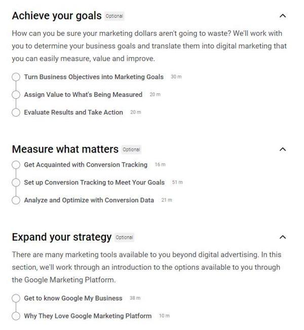 Google Ads Measurement Certification Outlines