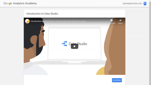 คอร์ส Google Data Studio ของ Google Analytics Academy