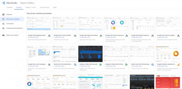 Templates ของ Reports ต่าง ๆ ใน Google Data Studio เพื่อเป็นไอเดียให้คุณเริ่มใช้งาน