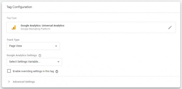 การตั้งค่าต่าง ๆ ของ Google Analytics Tag ผ่านทาง GTM