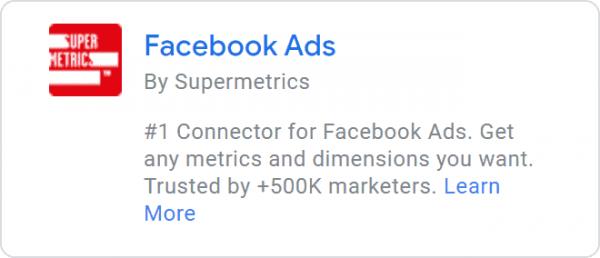 Supermetrics - Facebook Ads Connector