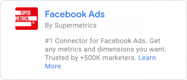 Supermetrics - Facebook Ads Connector